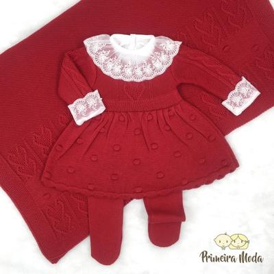 Saída De Maternidade Antonela Vermelha - 1111 - Primeira Moda