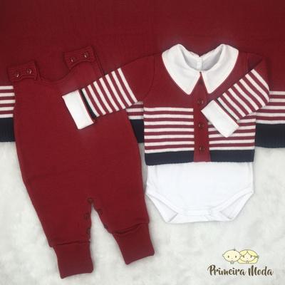 Saída De Maternidade Francisco Vermelha - 11221 - Primeira Moda