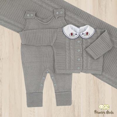 Saída De Maternidade Miguel Cinza - 1129 - Primeira Moda