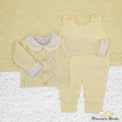 Saída De Maternidade Helena Amarelo - 1132 - Primeira Moda