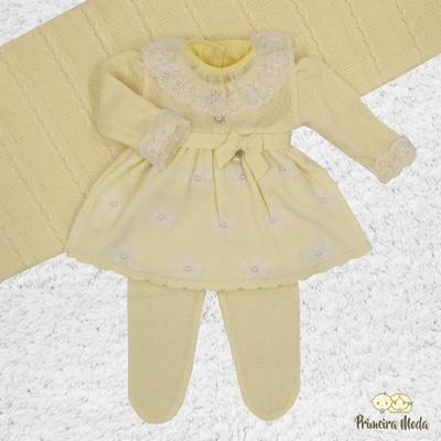 Saída De Maternidade Sophia Amarelo - 1133 - Primeira Moda