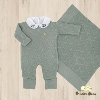 Saída De Maternidade Luan Verde Maré - 1138 - Primeira Moda