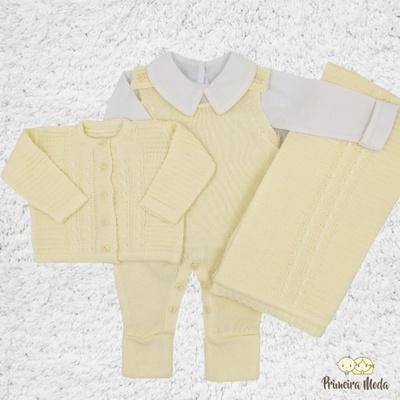 Saída De Maternidade Miguel Amarelo - 1128 - Primeira Moda
