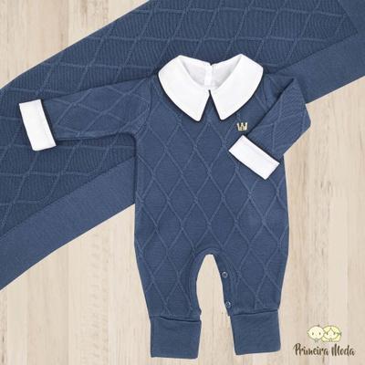 Saída De Maternidade Luan Azul - 1162 - Primeira Moda