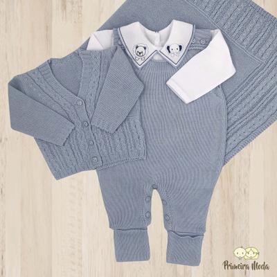 Saída De Maternidade Davi Azul Bebê - 1165 - Primeira Moda