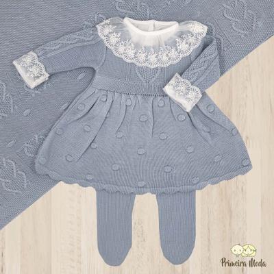 Saída De Maternidade Antonela Azul - 1178 - Primeira Moda