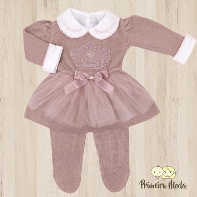 Vestido de Tricot Princesa Rose - 1193 - Primeira Moda