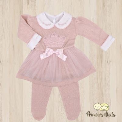 Vestido de Tricot Princesa Rosa - 1194 - Primeira Moda