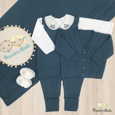 Saída De Maternidade Davi Verde - 1197 - Primeira Moda