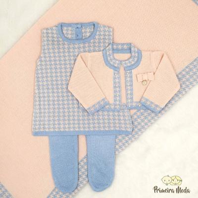 Saída De Maternidade Valentina Azul - 1246 - Primeira Moda