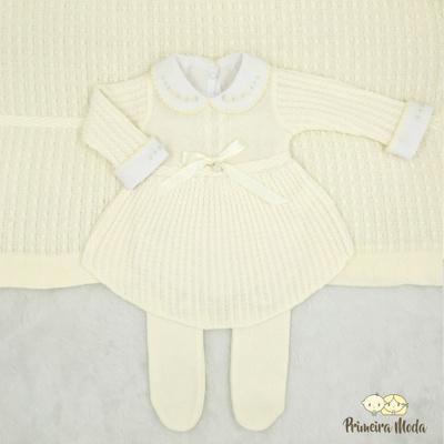 Saída De Maternidade Liz Creme - 1250 - Primeira Moda