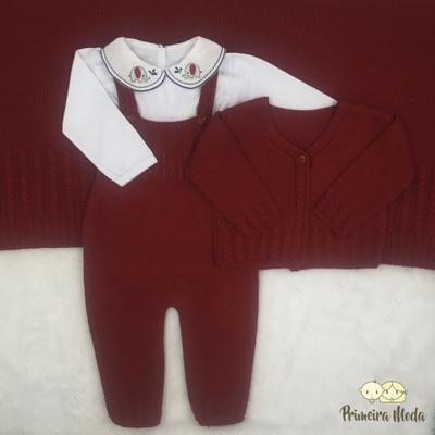 Saída De Maternidade Duda Vermelho - 1252 - Primeira Moda