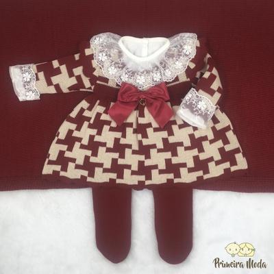 Saída de Maternidade Júlia Vermelho - 1083 - Primeira Moda