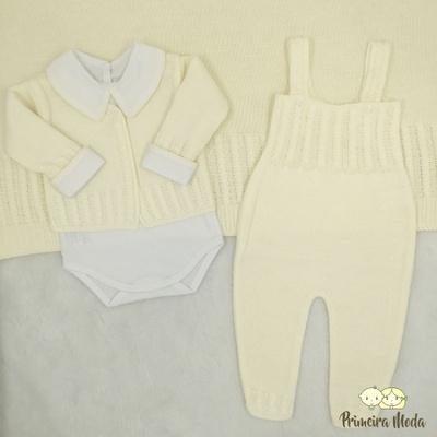 Saída De Maternidade Duda Creme - 1255 - Primeira Moda
