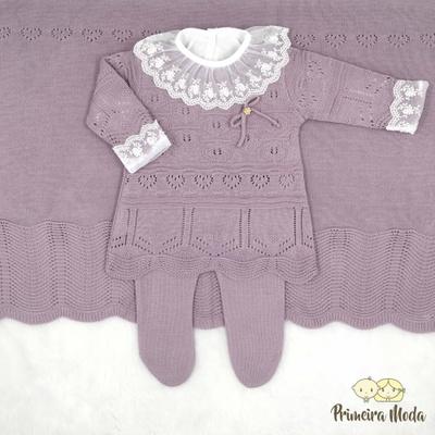 Saída De Maternidade Clarice Lilás - 1247 - Primeira Moda