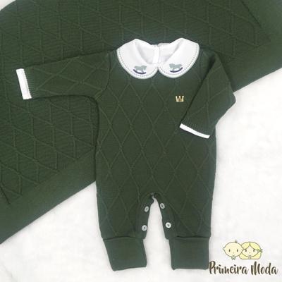 Saída De Maternidade Luan Verde - 1265 - Primeira Moda