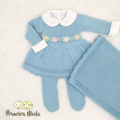 Saída de Maternidade Maria Azul - 1269 - Primeira Moda