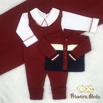 Saída De Maternidade José Vermelho - 1270 - Primeira Moda