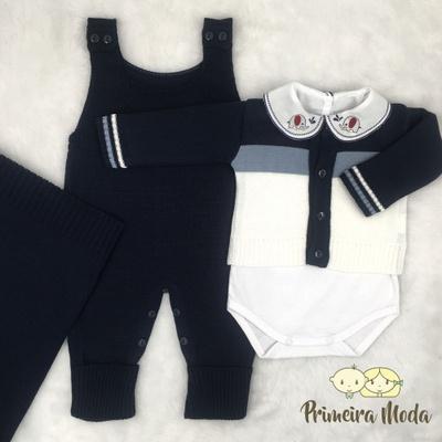 Saída De Maternidade José Azul - 1271 - Primeira Moda