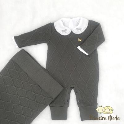Saída De Maternidade Luan Chumbo - 1273.8 - Primeira Moda