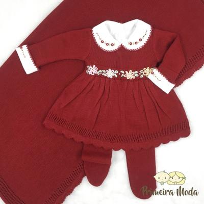 Saída de Maternidade Maria Vermelho - 1275 - Primeira Moda