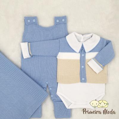 Saída De Maternidade José Azul Bebê - 1277 - Primeira Moda