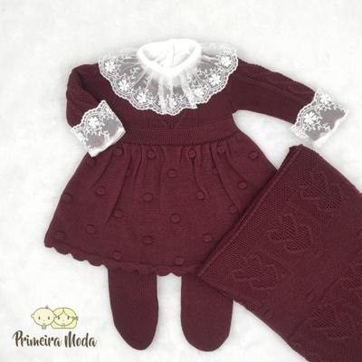 Saída De Maternidade Antonela Marsala - 1199 - Primeira Moda