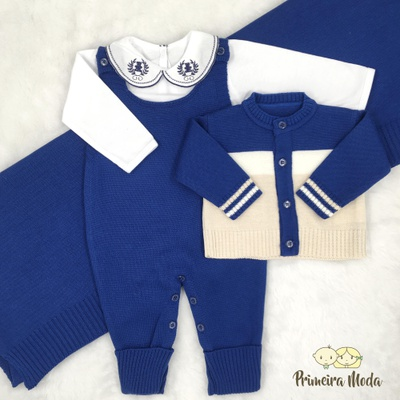 Saída De Maternidade José Azul Claro - 1309 - Primeira Moda