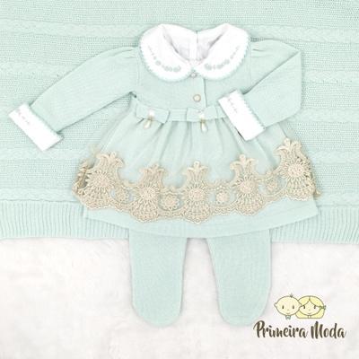 Saída De Maternidade Alicia Verde - 1327 - Primeira Moda