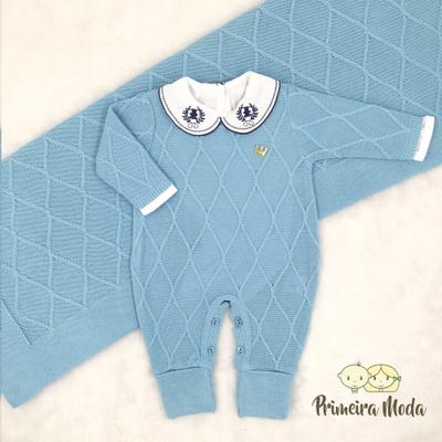Saída De Maternidade Luan Azul Claro - 1328 - Primeira Moda
