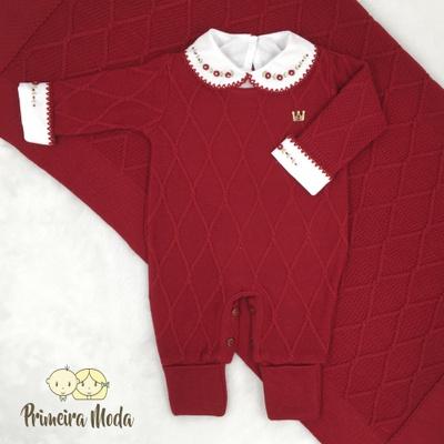 Saída De Maternidade Luan Vermelho - 1329 - Primeira Moda