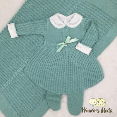 Saída De Maternidade Liz Verde - 1332 - Primeira Moda
