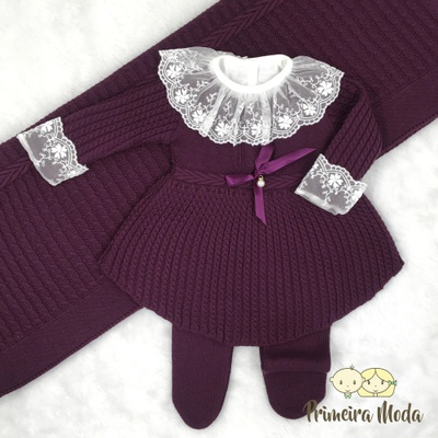 Saída De Maternidade Liz Uva - 1333 - Primeira Moda