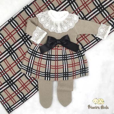 Saída De Maternidade Bia Bege - 1334 - Primeira Moda