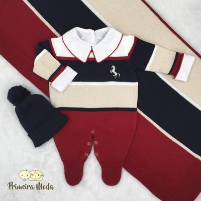 Saída De Maternidade Cavalinho Vermelho - 1354 - Primeira Moda