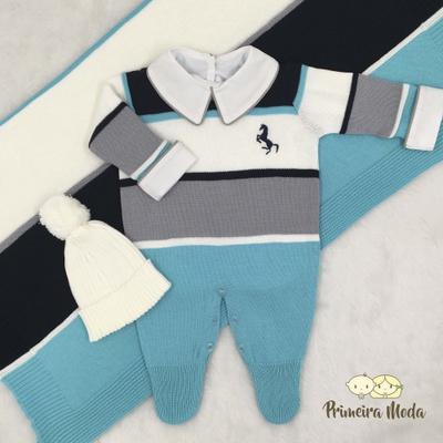 Saída De Maternidade Cavalinho Azul Piscina - 1355 - Primeira Moda