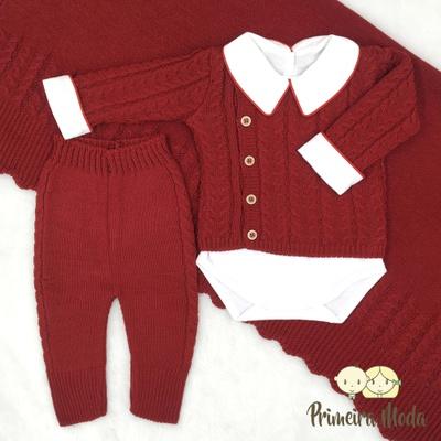 Saída De Maternidade João Vermelho - 1357 - Primeira Moda