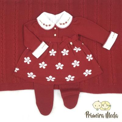 Saída De Maternidade Sophia Vermelha - 1407 - Primeira Moda