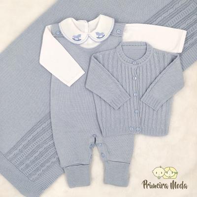 Saída De Maternidade Pedro Azul Bebê - 1375 - Primeira Moda