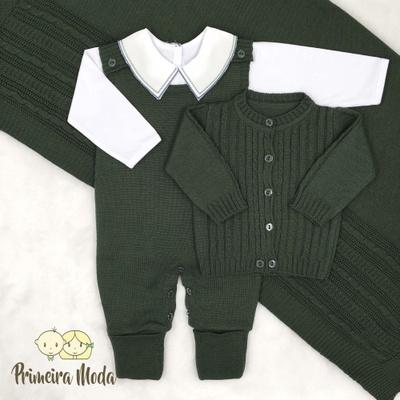 Saída De Maternidade Pedro Verde - 1376 - Primeira Moda