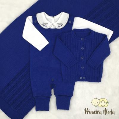 Saída De Maternidade Pedro Azul - 1377 - Primeira Moda