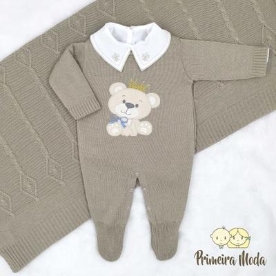 Saída De Maternidade Ursinho - 1380 - Primeira Moda