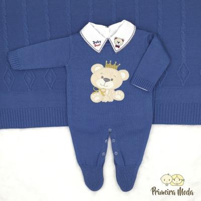Saída De Maternidade Ursinho Azul - 1381 - Primeira Moda