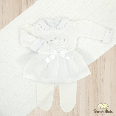 Saída de Maternidade Princesa Branco - 1382 - Primeira Moda