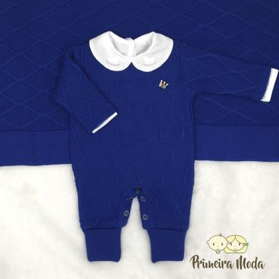 Saída De Maternidade Luan Azul Bic - 1391 - Primeira Moda