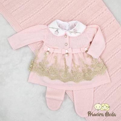 Saída De Maternidade Alicia Rosa - 1400 - Primeira Moda