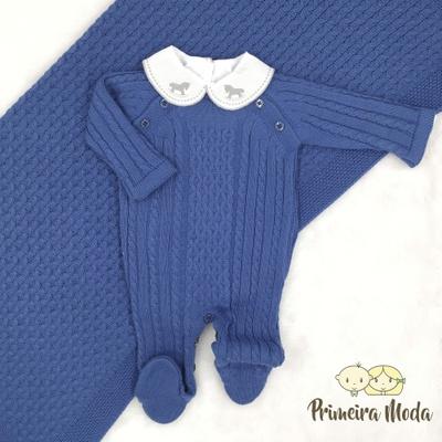 Saída De Maternidade Thomas Azul Jeans - 1394 - Primeira Moda