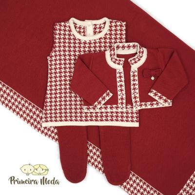 Saída De Maternidade Valentina Vermelho - 00007 - Primeira Moda