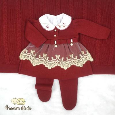 Saída De Maternidade Alicia Vermelho - 1157 - Primeira Moda