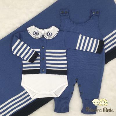 Saída De Maternidade Francisco Azul - 1127 - Primeira Moda